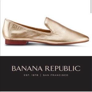 Gold Demi Smoking Loafer